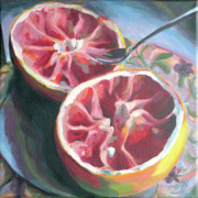 Grapefruit Paintings - Harmony by Trina Teele