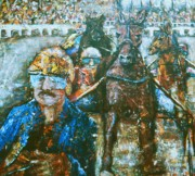 Horse Racing Paintings - Harness Race by Valera Ainsworth