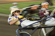 Horses In Harness Prints - Harness Racing 1 Print by Bob Christopher