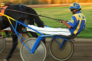 Horses In Harness Prints - Harness Racing 12 Print by Bob Christopher