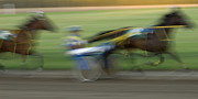 Horses In Harness Prints - Harness Racing 5 Print by Bob Christopher