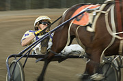 Horses In Harness Prints - Harness Racing 8 Print by Bob Christopher