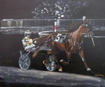 Horse Racing Paintings - Harness Racing by Richard Le Page