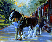 Preparation Originals - Harnessing the Clydesdales by Ken Fiery