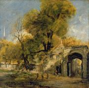 Salisbury Framed Prints - Harnham Gate - Salisbury Framed Print by John Constable
