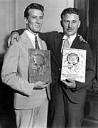 Arm Around Shoulder Posters - Harold Gatty & Wiley Post Honored Poster by Everett
