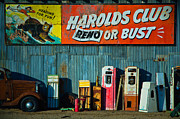 Shed Framed Prints - Harolds Club Framed Print by Marius Sipa