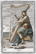 Westerhout Framed Prints - Harp, 1723 Framed Print by Granger
