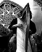 Tunes Photos - Harp Player by Danuta Bennett