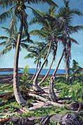 Bahamas Landscape Paintings - Harpster Island by Patricia A Griffin