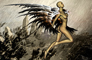 Faery Digital Art - Harpy by Steve Thorpe