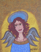 Angel Art Paintings - Harried Harriet by Molly Roberts