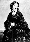 1800s Prints - Harriet Beecher Stowe, Ca.1800s Print by Everett