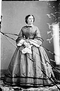 Harriet Prints - Harriet Lane, Niece Of  James Buchanan Print by Everett