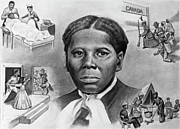 Slaves Framed Prints - Harriet Tubman Framed Print by Curtis James