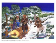 Underground Railroad Paintings - Harriet Tubman-mountain side rest stop by Everna Taylor