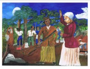 Slaves Painting Originals - Harriet Tubman-sworn to secrecy by Everna Taylor