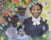 Harriet Tubman Paintings - Harriet Tubman- Tears of Joy Tears of Sorrow by Art Nomad Sandra  Hansen