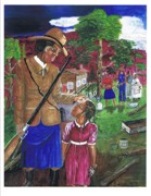 Underground Railroad Paintings - Harriet Tubman-when youre a little older by Everna Taylor