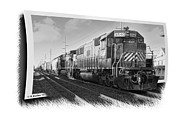 Sfx Posters - Harrington Train - Grayscale Poster by Brian Wallace