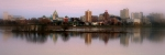 Susquehanna River Photos - Harrisburg Riverfront at Dusk - panoramic by Debra Straub