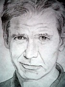 Indiana Drawings Prints - Harrison Ford - Medium Print by Robert Lance