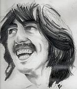 George Harrison Drawings - Harrisons smile by Matt Burke