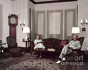 Truman Photos - Harry And Bess Truman by Photo Researchers