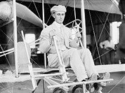 Bi Planes Photos - Harry Atwood A Pupil Of The Wright by Everett