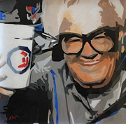 League Painting Prints - Harry Caray Print by Steven Dopka