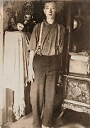 1900s Portraits Photos - Harry Mcshane, Age 16, Had His Arm by Everett