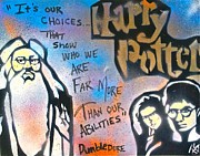 Metaphysics Posters - Harry Potter and  Dumbledore Poster by Tony B Conscious