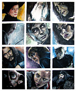 Snape Posters - Harry Potter Cast Poster by Sarah Stonehouse
