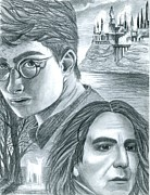 Snape Prints - Harry Potter Print by Crystal Rosene