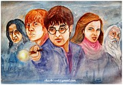 Hermione Paintings - Harry Potter legends by Shashikanta Parida