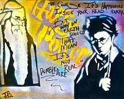 Graffiti Painting Posters - Harry Potter with Dumbledore Poster by Tony B Conscious