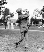 Famous Golfers Framed Prints - Harry Vardon - Golfer Framed Print by International  Images