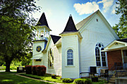 Missouri Star Prints - Hartsburg Baptist Church Print by Cricket Hackmann