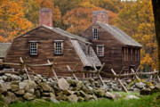 American Colonial Architecture Posters - Hartwell Tarvern in Autumn Poster by Susan Cole Kelly