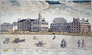 Harvard University Framed Prints - Harvard College, 1767 Framed Print by Granger