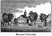 Harvard University Framed Prints - Harvard University, 1836 Framed Print by Granger