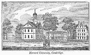 Harvard University Framed Prints - Harvard University, 1839 Framed Print by Granger