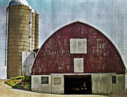 Barn Yard Metal Prints - Harvest Barn Metal Print by Kathy Jennings