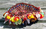 Basket Glass Art - Harvest Basket by Patricia Griffin Brett