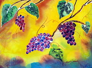 Grapevines Painting Originals - Harvest by Beverly Johnson