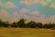 Yellows Pastels Originals - Harvest by Bob Naramore