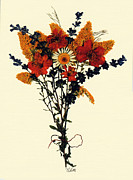 Tendrils Posters - Harvest Bouquet Poster by Kay  Sutton