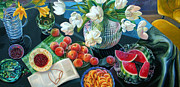 Cookbook Painting Posters - Harvest Poster by Gina Blickenstaff