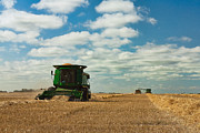 Combine Framed Prints - Harvest on the Canadian Prairies Framed Print by Matt Dobson