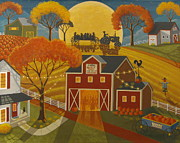 Hayride Prints - Harvest Party Print by Mary Charles